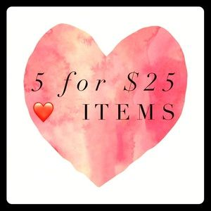 5 for 25 sale!!!❤️